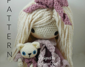 February - Amigurumi Doll Crochet Pattern