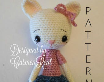 Katia 10 1/2 inches- Amigurumi Doll Crochet Pattern PDF