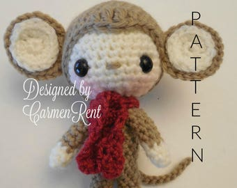 Oliver 5 1/2 inches- Amigurumi Doll Crochet Pattern PDF