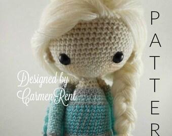 Elsa - Amigurumi Doll Crochet Pattern PDF
