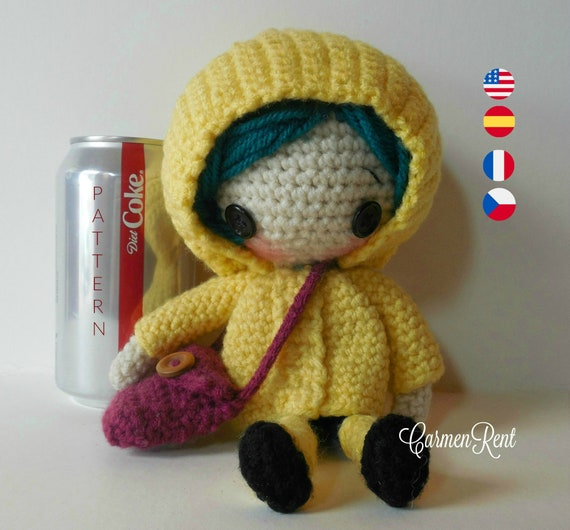 Coraline Petite Amigurumi Doll Crochet Pattern Pdf Etsy