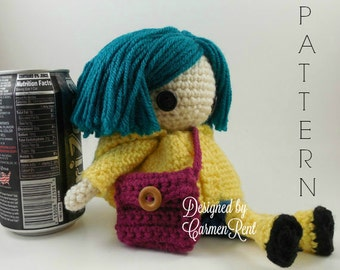 Coraline Petite - Amigurumi Doll Crochet Pattern PDF