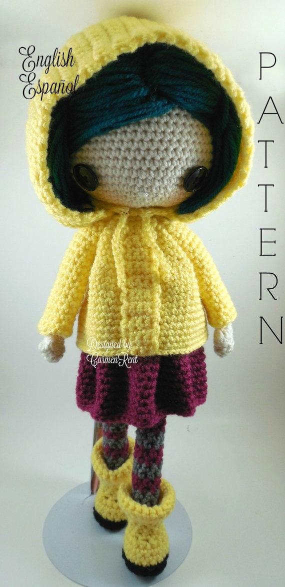 Coraline Amigurumi Doll Crochet Pattern Pdf Etsy