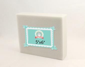 "Needle Felting Foam Pad - 5""x 6"" Medium // Best dense, long-lasting foam block needle felt supplies // Perfect for purse or travel"