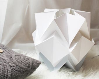 Origami Table lampe in paper