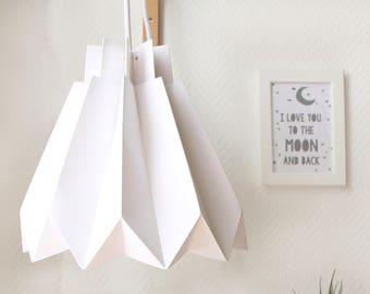 DIY LAMP SHADE - Origami Lampshade - Lampshade Kids Room - Romantic Lamp Shade - White Paper Lampshade - Lamp Shade Paper