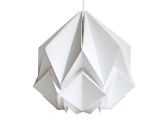 Origami lampshade in white paper, small size