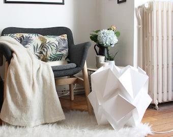 Floor lamp handmade in paper