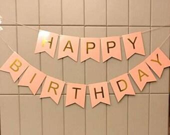 Birthday Banner, Happy Birthday, First Birthday, Birthday Party, Party Banner, 1st Birthday Banner, Birthday Decor, Birthday.