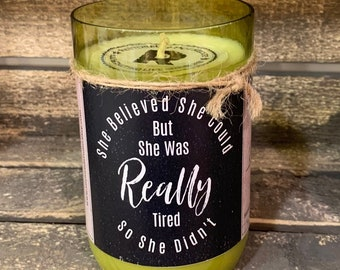 Scented Soy Candle, Wine Bottle Candle, Recycled Bottle, Gift Ideas, Birthday, Wedding, Aromatherapy Candle, Soy Wax, Personalized Gift