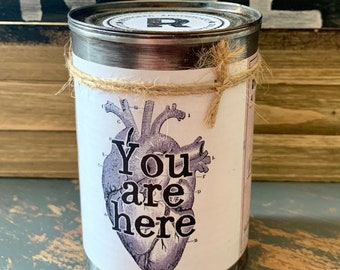 Soy Candle, Scented Soy Candle, Candle, Candle Tin, Recycled, Unique Gift, Custom Candle