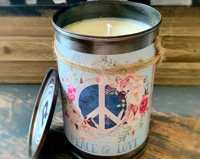 Featured listing image: Soy Candle, Scented Soy Candle, Candle, Candle Tin, Recycled, Unique Gift, Custom Candle