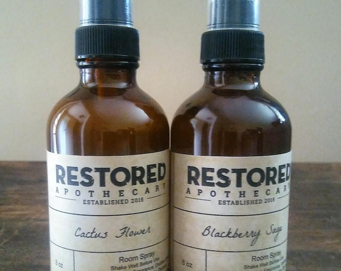 Featured listing image: Room Spray, Linen Spray, 4 ounce Room + Linen Spray, Amber Bottle, Choose Your Scent, Home Fragrance, Air Freshener