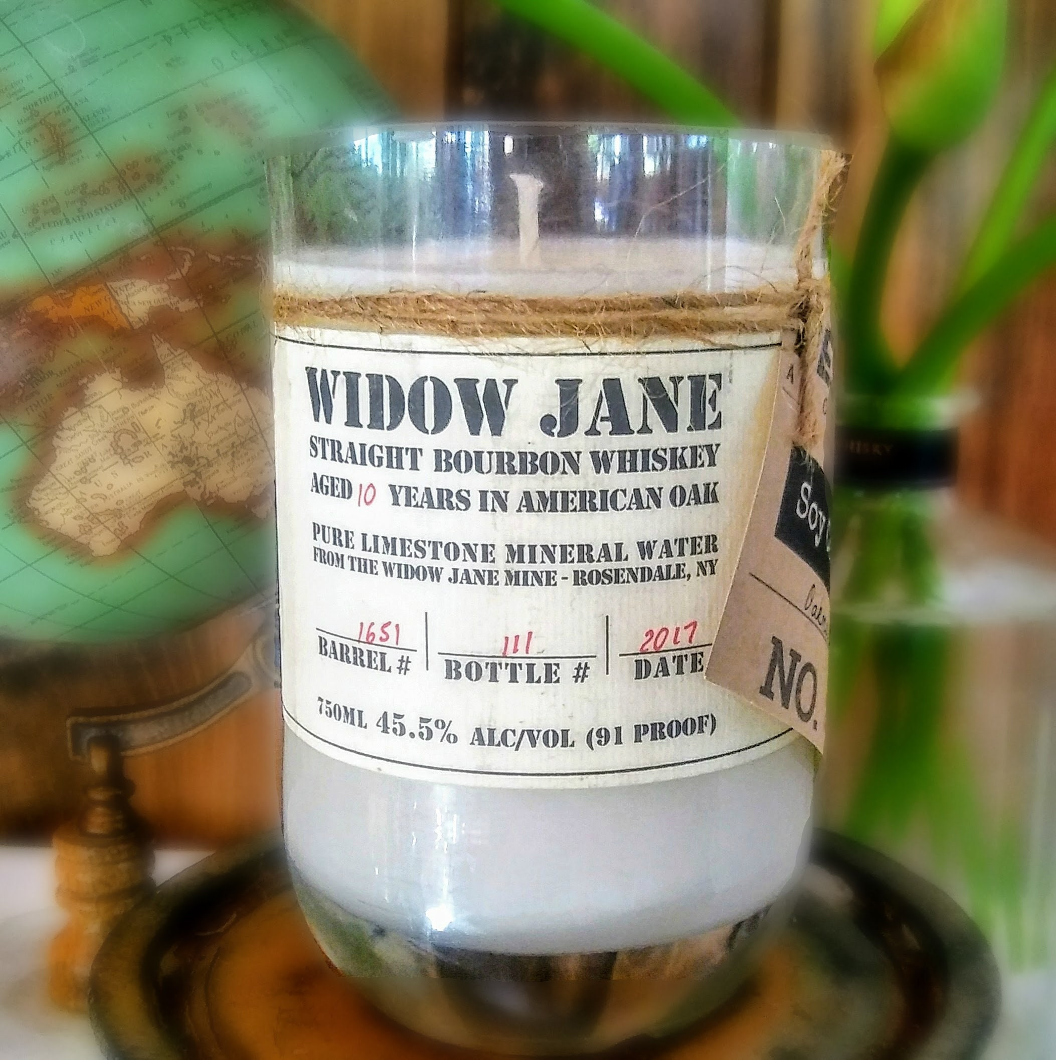 Scented Soy Candle Liquor Bottle Widow Jane Recycled Gift Ideas Birthday Wax Personalized