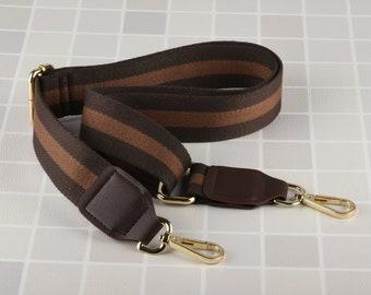 Brown Crossbody Bag Strap Adjustable Handbag Strap