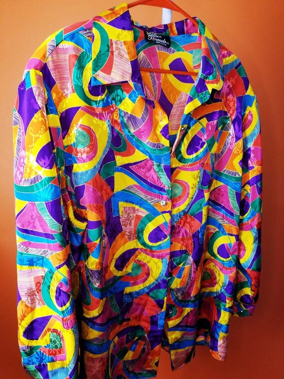 Funky colorful vintage blouse