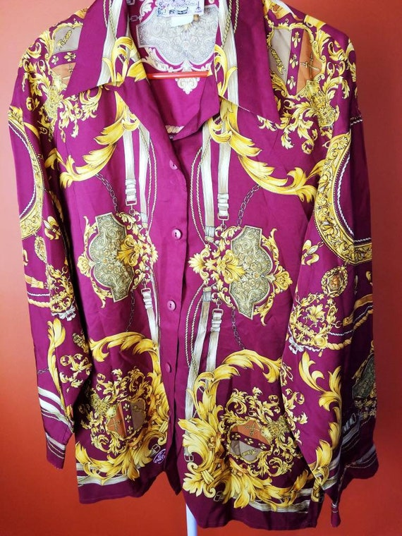 Versace Inspired French Blouse