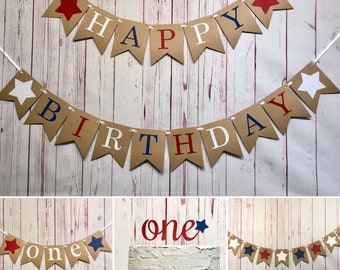 4th of July Birthday Party Package, Cake Smash Photo Props, Fourth of July, Little Firecracker Birthday, Red White and Blue, Patriotic 1st