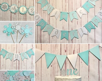Winter Onederland Party Package, Onederland Birthday Decorations, Snowflake 1st Birthday, Winter Wonderland Party Supplies, Little Snowflake