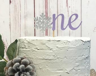 Purple Snowflake Cake Topper, Winter Onederland Cake Topper, First Birthday Cake Smash, Winter Wonderland Cake Decorations, Little Snowflake