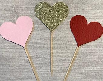 Valentine's Heart Cupcake Topper, Sweetheart Birthday Decor, Little Sweetheart Baby Shower, Valentine's Baby Shower, Sweetheart 1st Birthday