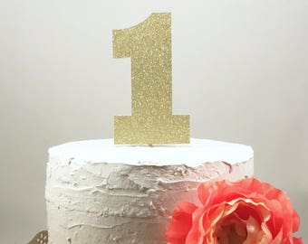 Number 1 Cake Topper, First Birthday Cake, 1 Cake Topper, Smash Cake Topper, Glitter 1 Cake Topper, 1st Birthday Party, Baby Girl Birthday