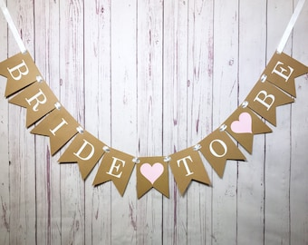 Bride to Be Banner, Bride to Be Sign, Engagement Banner, Bridal Shower Banner, Bachelorette Party, Soon to be Mrs, Country Wedding Decor