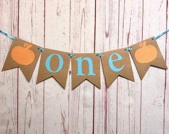 One Pumpkin High Chair Banner, Our Little Pumpkin is Turning One Decorations, Little Pumpkin Boy, One Pumpkin, First Birthday Cake Smash