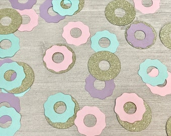 50 Donut Confetti, Baby Sprinkle Confetti, Donut Grow Up 1st Birthday, Donut Party Supplies, Two Sweet Birthday, Sweet One Party Decorations