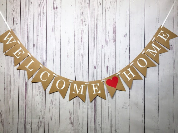 Welcome Home Sign, Military Homecoming, Housewarming Party