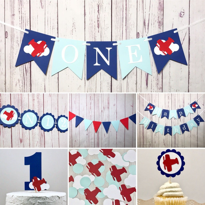 Airplane Birthday Party Package Time Flies Birthday Decor image 0