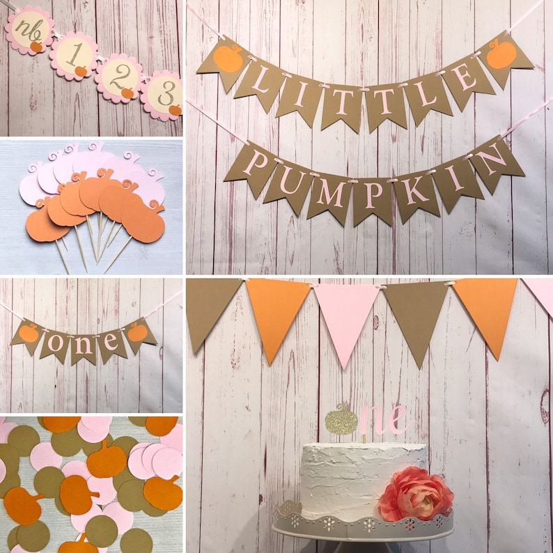 Our Little Pumpkin is Turning One Party Package Pumpkin 1st image 0