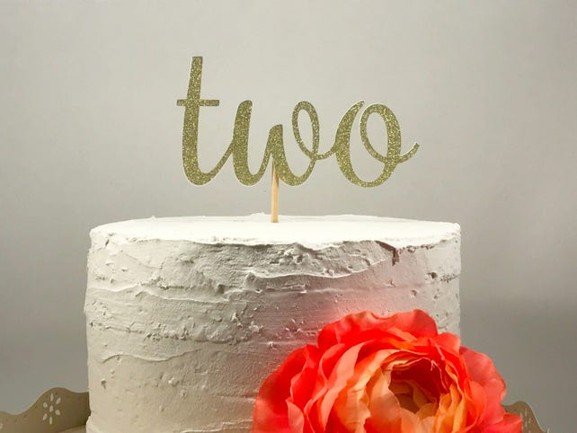 Number Two Cake Topper 2nd Birthday Cake Second Birthday Etsy