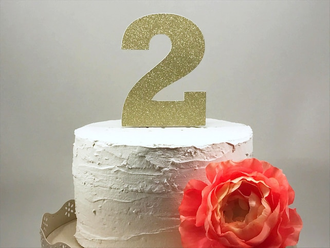 Number 2 Cake Topper 2nd Birthday Two Girl