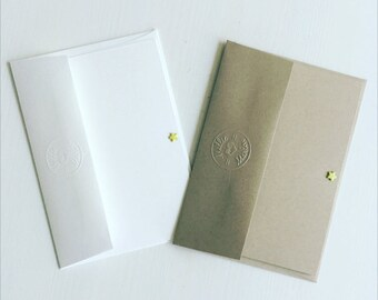 NOTE CARDS // Yellow note cards // White note cards // Yellow postcards // Set of 5 notecards // Pastel note cards // Kraft note cards