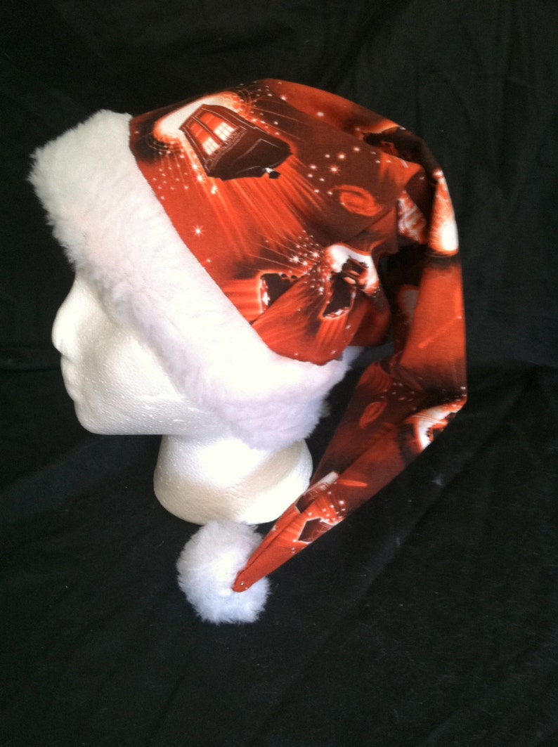 fce4324d2d6 Christmas Santa Hat Made From Doctor Who Red Tardis   Dalek