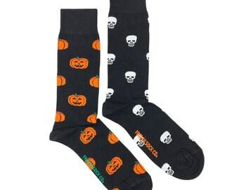 Men's Socks   Pumpkin & Skull   Mismatched Socks   Halloween Socks   Spooky Socks   Ghost Socks   Trick or Treat Socks   Happy Halloween