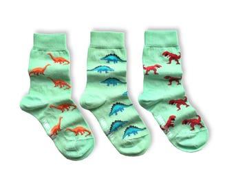 KIDS Socks | Mismatched Socks | Dinosaurs | Fun Socks | Crazy Socks | Mismatched | Odd Socks |  Cool Socks | Funky Socks