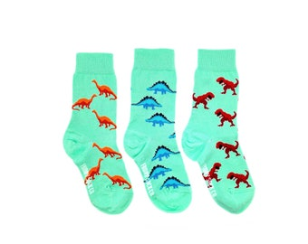 Kid's Socks | Dinosaurs | Mismatched Socks | Jurassic World | Kid's Dino Socks | Kid Dinosaur Gift | Small Socks | Dinosaur Party | Jungle