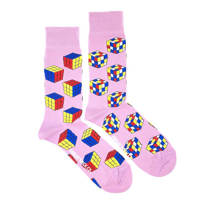 313a6bdc8 Mens Socks Mismatched Socks Rubiks Cube Fun Socks