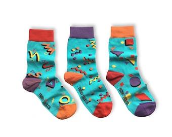 KIDS Socks | Mismatched Socks | 80's | Fun Socks | Crazy Socks | Mismatched | Odd Socks |  Cool Socks | Funky Socks