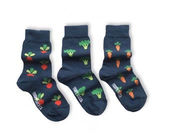 KIDS Socks | Mismatched Socks | Veggie Socks | Fun Socks | Crazy Socks | Mismatched | Odd Socks |  Cool Socks | Funky Socks