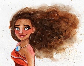 Moana Watercolor