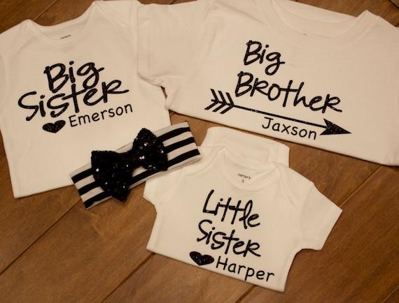 729767e2e Big sister Shirt big brother Shirt little sister shirt | Etsy