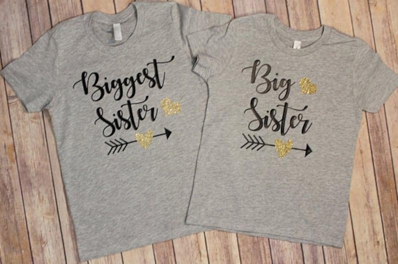 Biggest Sister Shirt big sister shirt Biggest Sister New Sister Tee Big Sister Tee Shirt Sister Shirts sister shirts Big sister Shirt