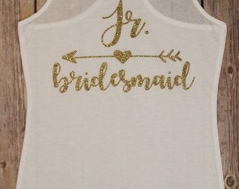 Jr. Bridesmaid Tank Top, Jr. Bridesmaid Shirt, Wedding Shirt, Wedding Clothes,  Rehearsal Outfit, Wedding Rehearsal, Bridesmaid Tank