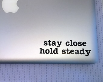 """Niall Horan Laptop Decal Sticker """"The Tide"""" Lyrics 