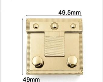 Taschenverschluss drehbar Drehverschluss Oval 23x37 mm goldfarben