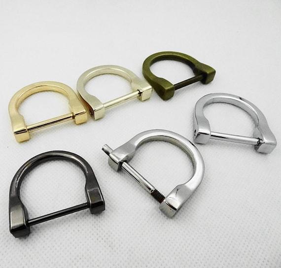 Handbag Connector Golden Purse D Clasp Chain D Clasp Purse Accessories Bag Clasp D Buckle 14mm Purse D Rings