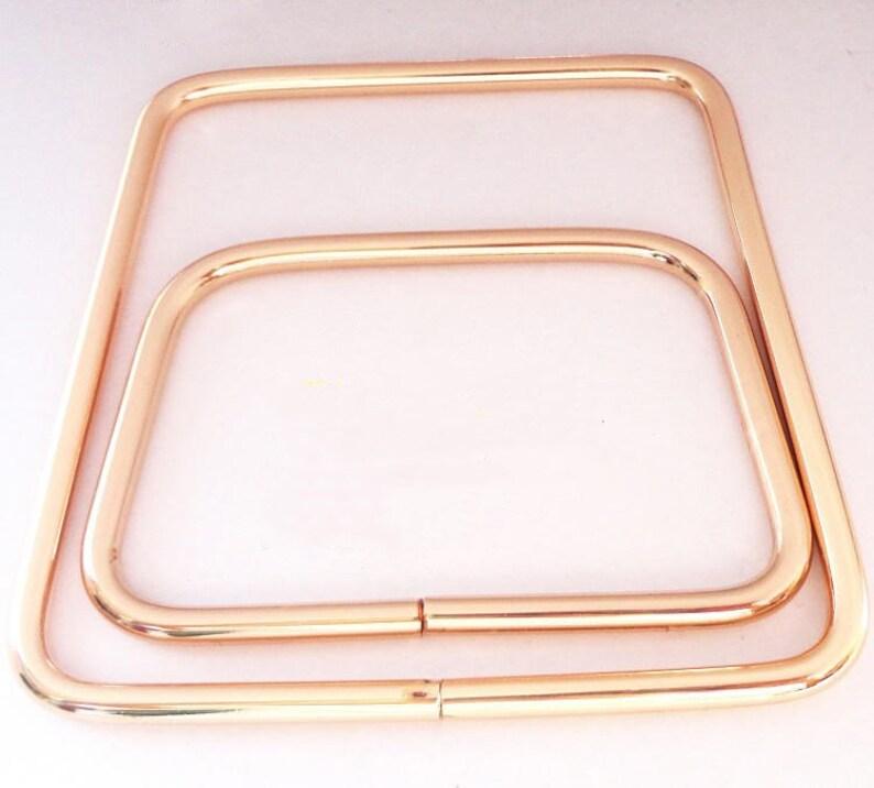 Handbag Handle Hardware Accessories Trapezoidal Handle Button Iron Plated Placket Buckle Leather Shoulder Messenger Bag Handle Light Golden